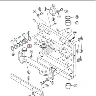 Втулка поворотного гидроцилиндра Case 101907A1