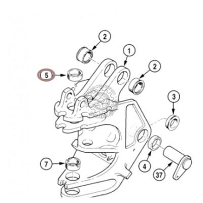 Втулка поворотной рамы Case D135557