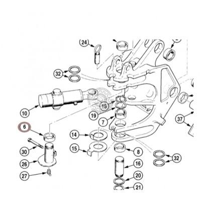 Втулка поворотной рамы Case D135559