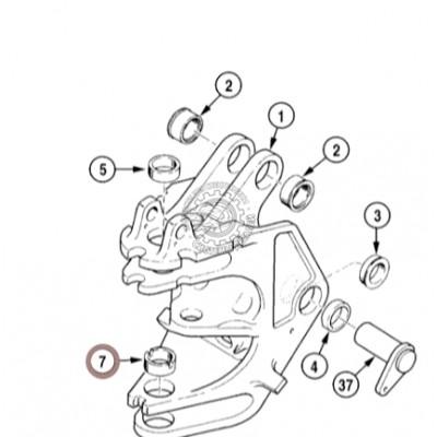 Втулка поворотной рамы Case D151073