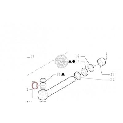 Втулка гидроцилиндра поворота стрелы New Holland